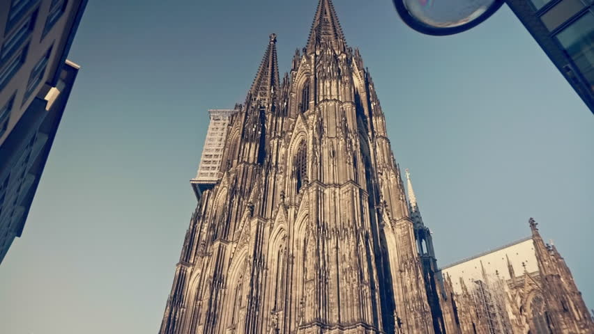 Cologne Dom Cathedral is a roman catholic Gothic cathedral in Cologne Germany. Shoot on Digital Cinema Camera in hd.