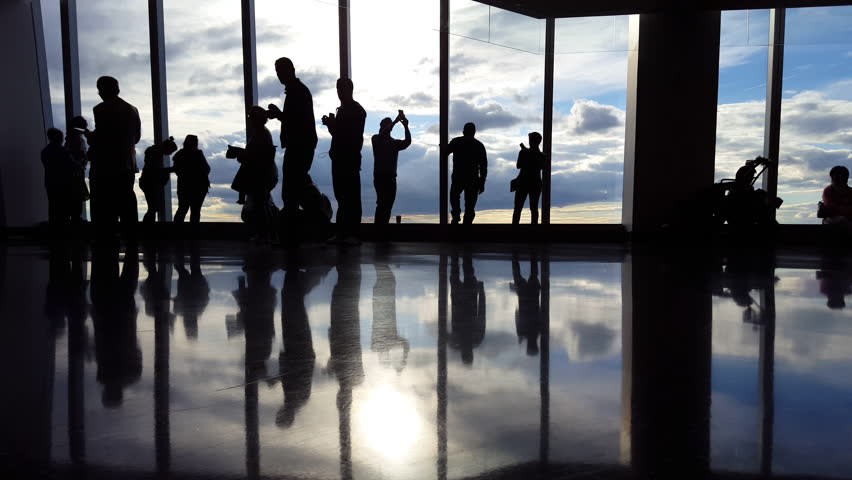 People at Airport Terminal Waiting to board flight Time Lapse 4K | Shutterstock HD Video #12254159