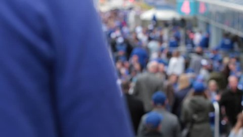 Toronto blue jays packed crowd out of focus - OCTOBER 14TH, 2015 - Toronto World Series Playoffs Game 5 vs Texas Rangers