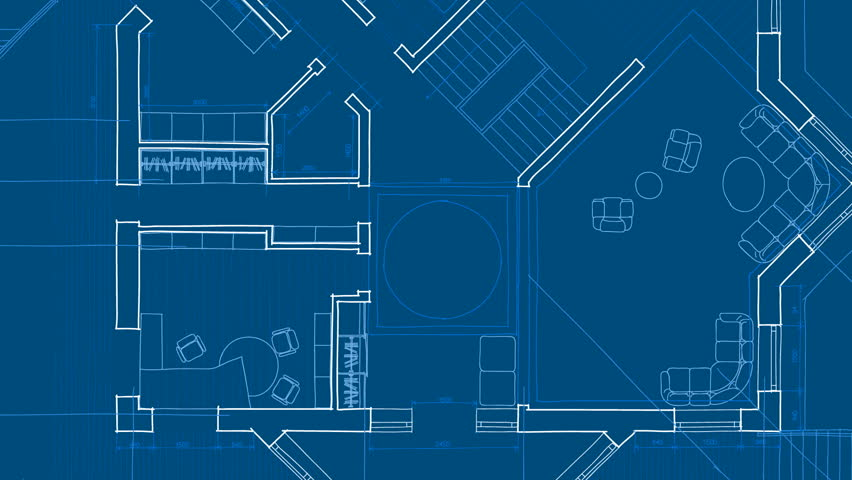 Architecture blueprint | Shutterstock HD Video #1227064