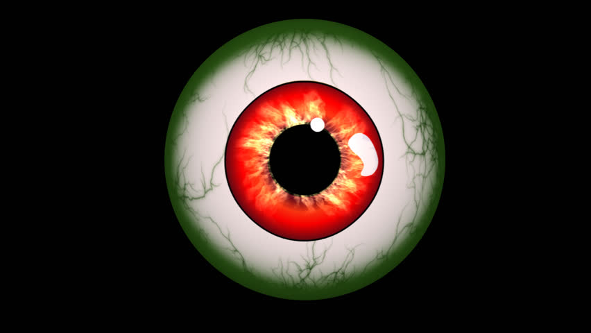 Creepy Halloween monster eye looking around with alpha channel. #12279224