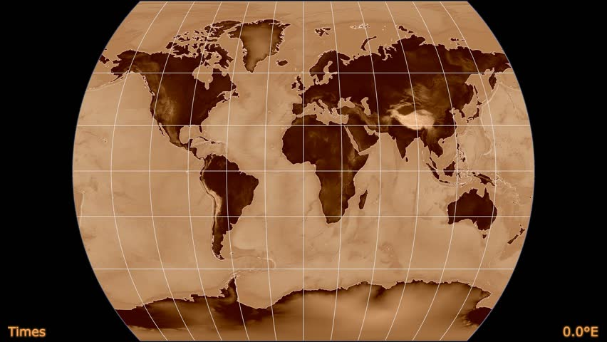 Old world map morph to new world map alpha stock footage video animated world map in the times projection shaded elevation map used gumiabroncs Gallery
