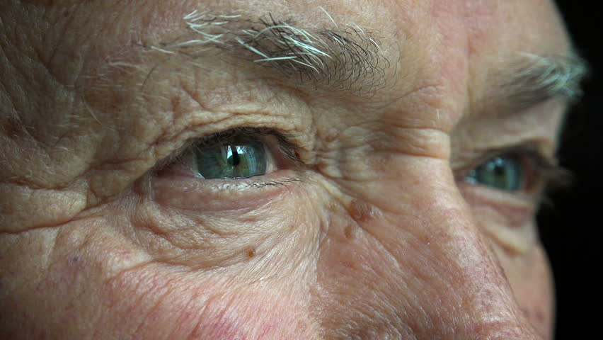 Old Man Opens His Eyes Stock Footage Video 100 Royalty