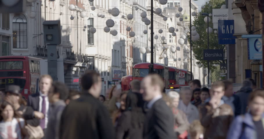 Anonymous Oxford Street shoppers | Shutterstock HD Video #12447194