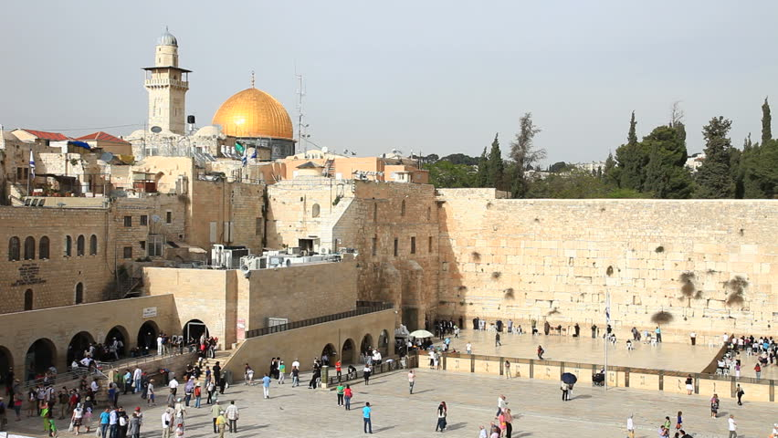 The Wailing Wall in Old Jerusalem