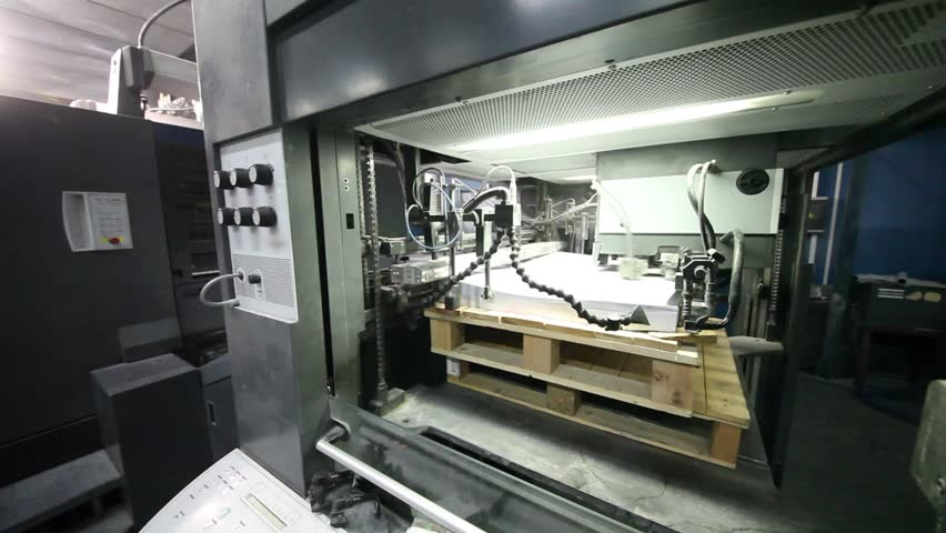 Devices for rapid paper feed for offset printing in typographic workshop   Shutterstock HD Video #12493964