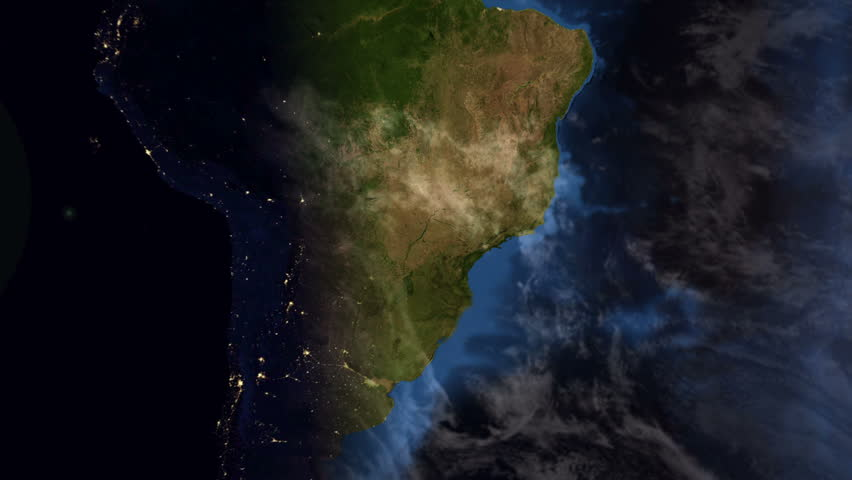 Brazil - South America - Earth Morning Zoom