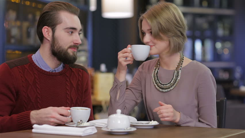 couple having coffee clip art