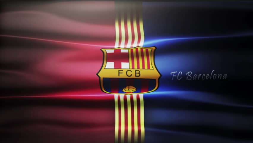 Barcelona , SPAIN - 30 October 2015 - Animated logo of Spanish football club FC Barcelona.
