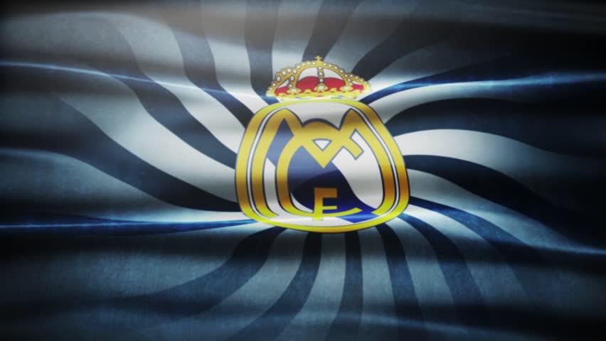 Madrid , Spain - 29 October 2015 - Animated logo of Spanish football club Real Madrid C.F.