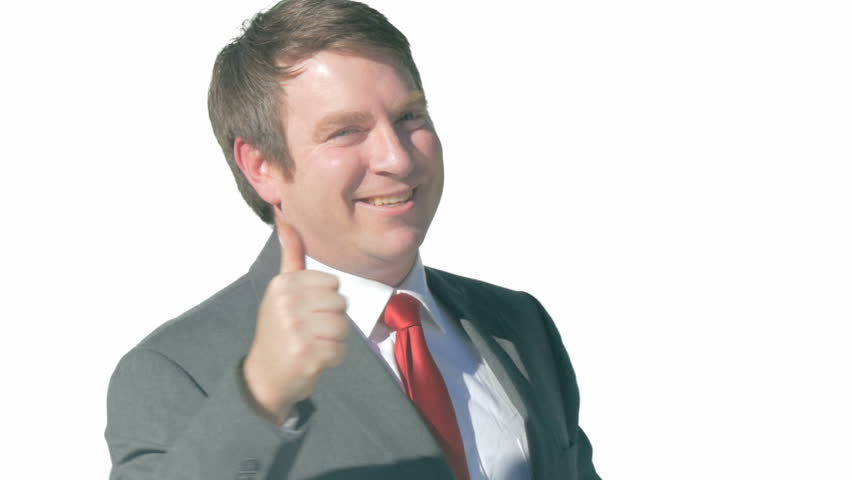 Smiling Business Man Giving Thumbs Stock Footage Video ...