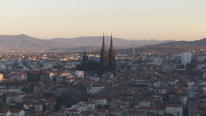Sunset on Clermont-Ferrand