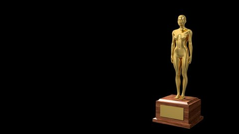 Trophy award ceremony intro with space for title text nomination 4K