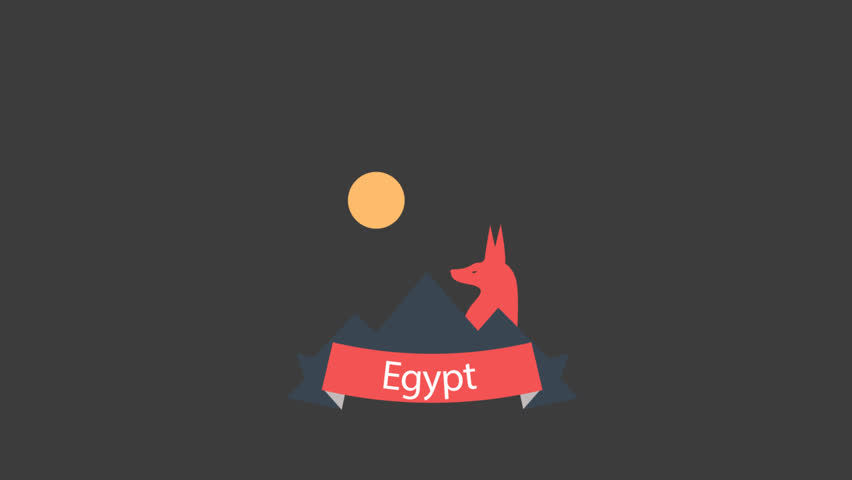 Egypt Animated Logo. A great piece of stock in 4k definition, perfect for film, tv, documentaries, reality TV, trailers, infomercials and more! | Shutterstock HD Video #12706304