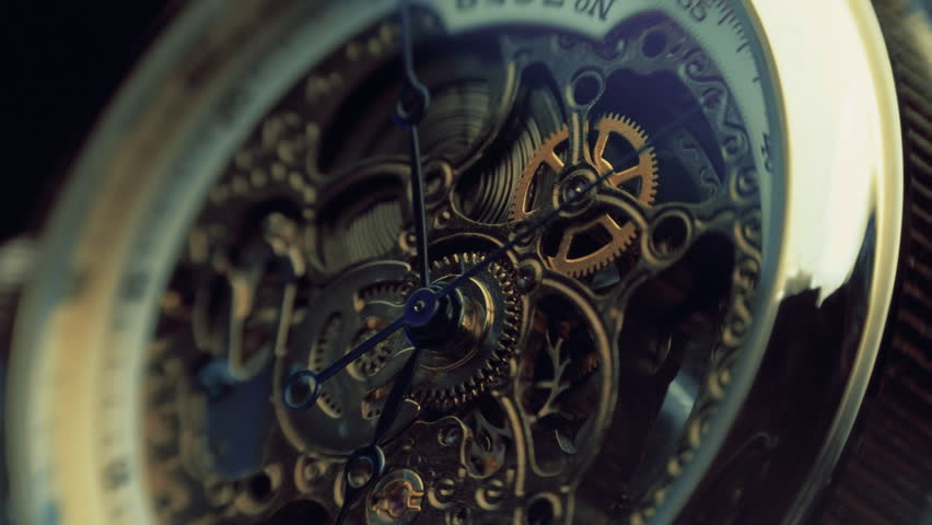 The mechanism of a wristwatch antique style. The camera moves around. Closeup. Shallow depth of field | Shutterstock HD Video #12755099