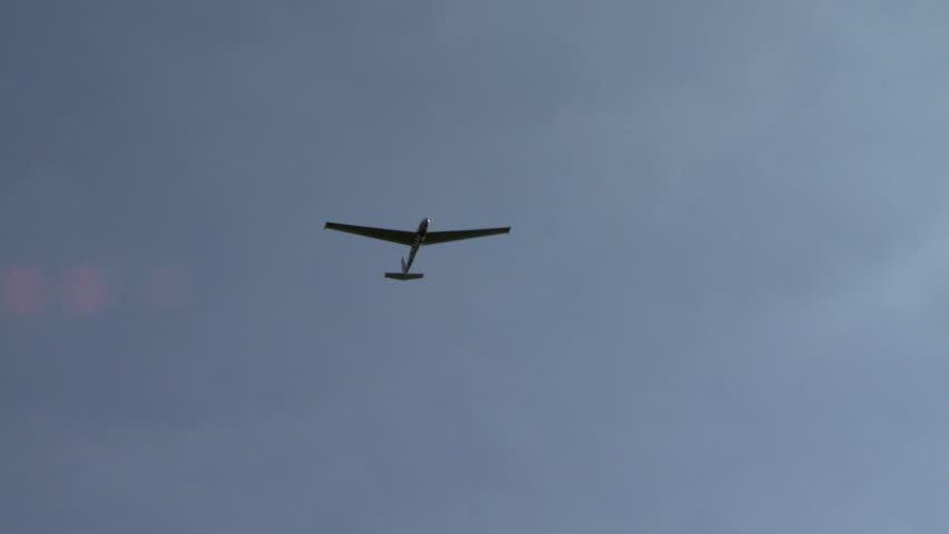 View of sailplane soaring at camera