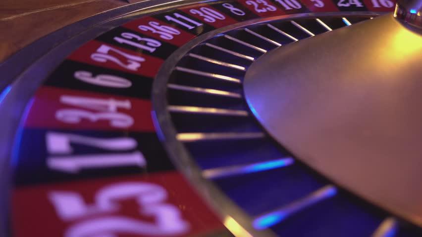 Spinning Roulette Wheel - ball falls on field 20 black   Shutterstock HD Video #12838274