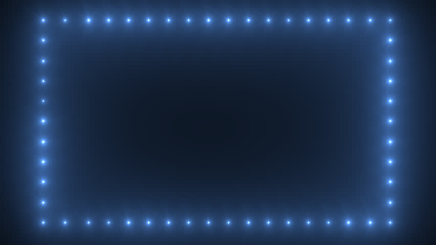 Lights Border Made Of Blue Stock Footage Video 100 Royalty Free 12884984 Shutterstock