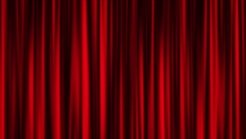 Red curtain animation background
