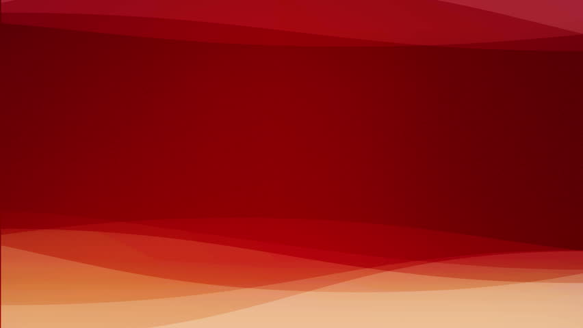 Abstract Transparent Red Waves In Motion On Red Background Loop