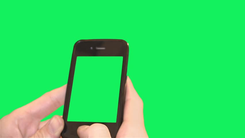 Smart phone green background with green screen - 1080p. Close shot of hands using a smartphone over a green screen background. | Shutterstock HD Video #13001084