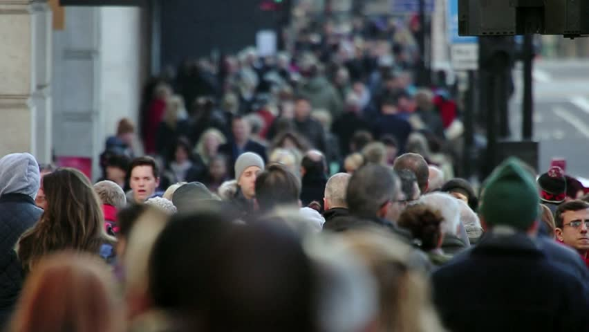 London, Nov 2015: After years of economic downturn, retail areas like Oxford street are once again packed with thousands of people out spending money in the capital's shops. Every age & race are here. | Shutterstock HD Video #13021304