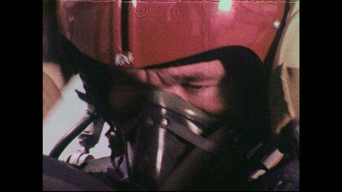 UNITED STATES 1970s : U.S. Air Force T38 Thunderbird pilot prepares for flight