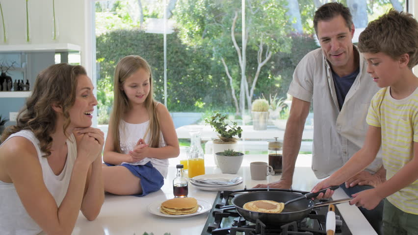 Stock video of happy family making pancakes for breakfast 13159574 stock video of happy family making pancakes for breakfast 13159574 shutterstock ccuart Images