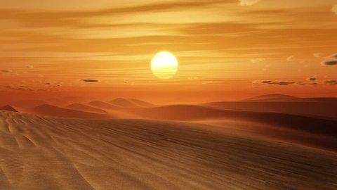 orange desert sunset