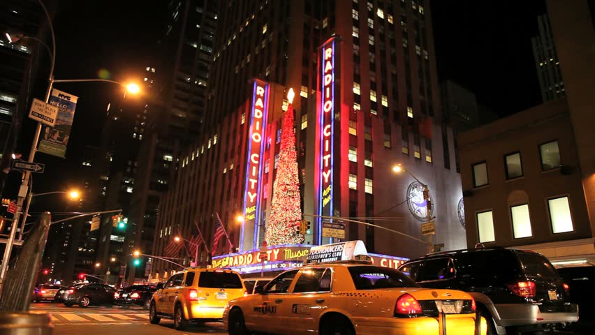 NEW YORK - NOVEMBER 26: Radio City Music Hall at Christmas, November 26, 2010 in New York City.