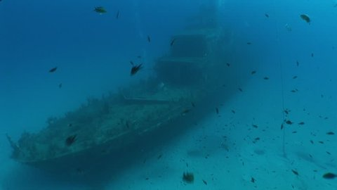 wreck underwater shipwreck with fish ship wreck