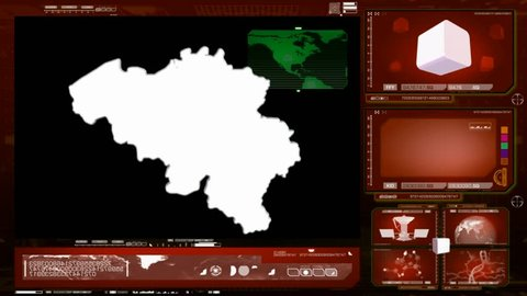 Belgium scanned by software