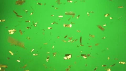 Gold Confetti falling slow and beautiful