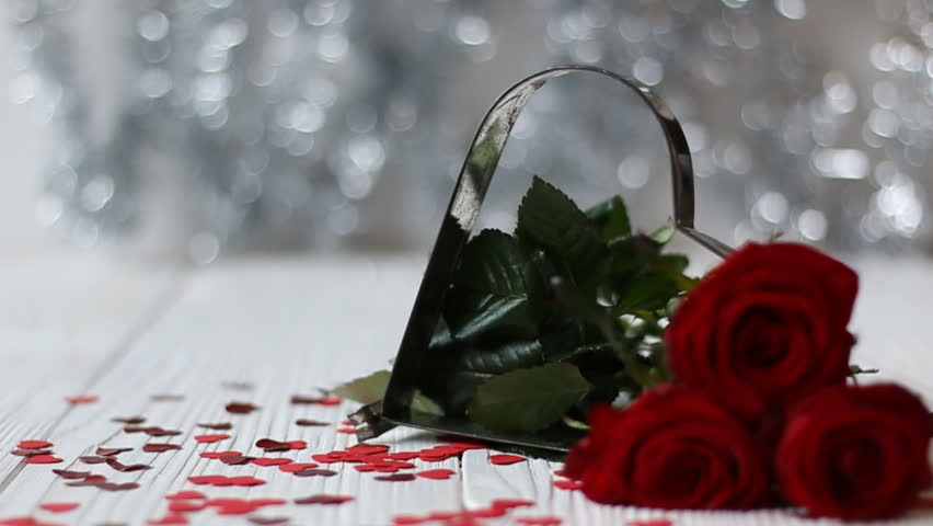 romantic still life with beautiful red roses. valentine's day, Ideas