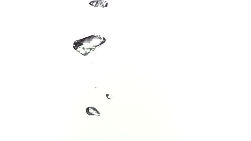 Bubbles going to water surface filmed in slow-motion at 1000fps