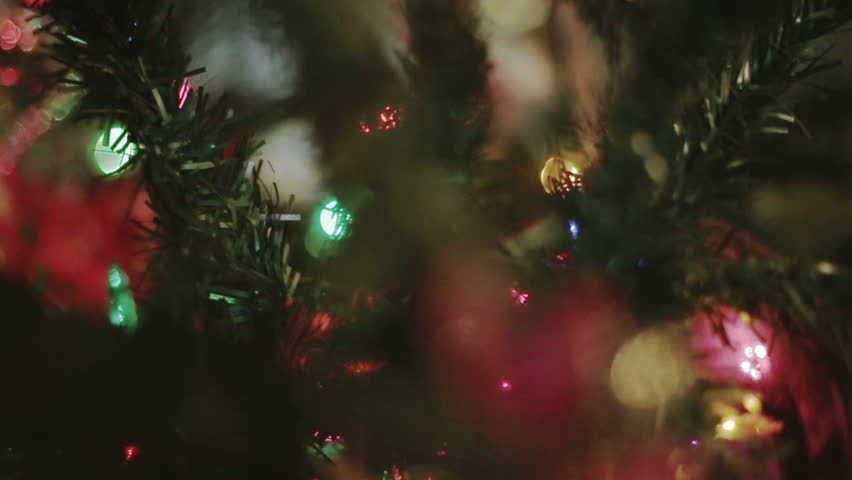 Christmas Tree Detail With Lights Stock Footage Video 100 Royalty Free 13363814 Shutterstock