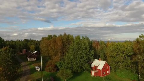 Aerial View Lake Superior Duluth MN Cloudy Late Summer - Drone Video Camera Slowly Ascending