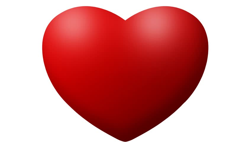 Love Heart Thumping Beating On White Background Animation Of Red