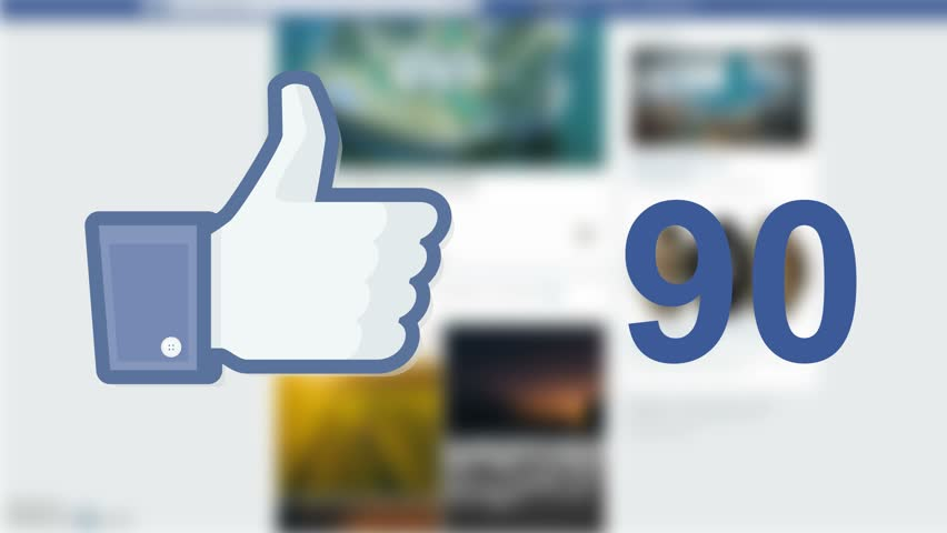 NEW YORK - DECEMBER 21, 2015: Facebook social media like 'likes' button number counter with hand cursor. Facebook is the most popular online social networking service