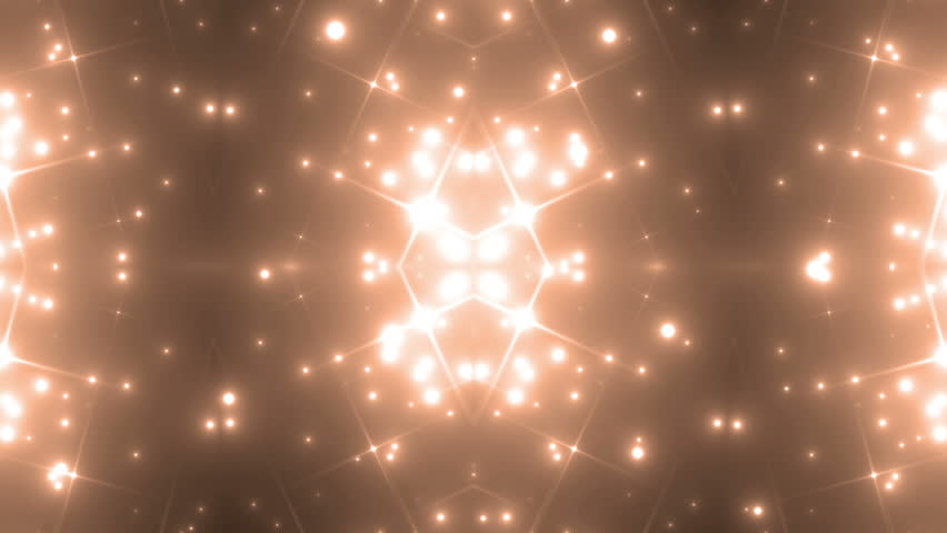 Abstract Orange Background Fractal Sun.Rays the sun lace shaped flower pattern with stars | Shutterstock HD Video #13477574