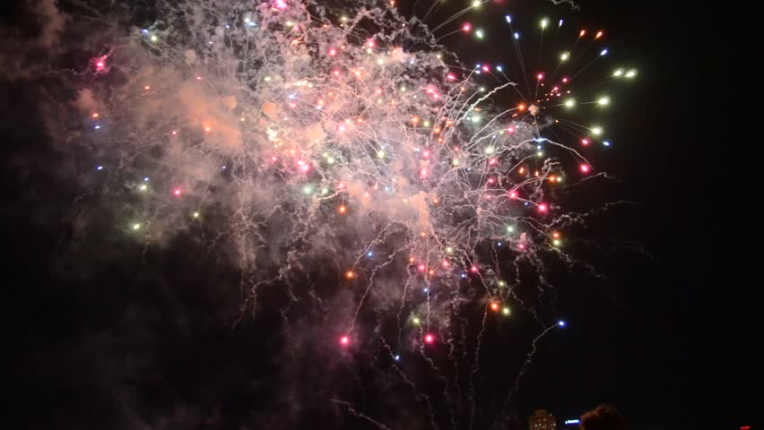 SYDNEY - JANUARY 1: News years eve celebrations at Harbour Bridge, attended by more than 1 Million people from all over the world. 2016   Shutterstock HD Video #13610534