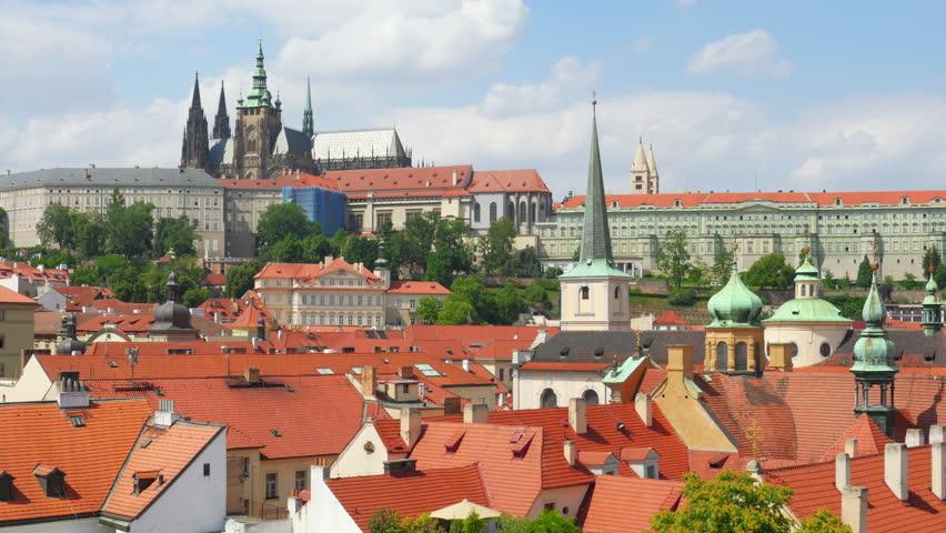 Charles bridge and castle view, prague, czech republic, timelapse, 4k | Shutterstock HD Video #13651964
