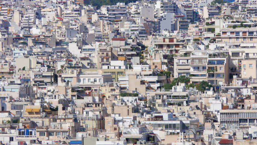 Apartments In Downtown Athens, Greece, 4k Stock Footage ...