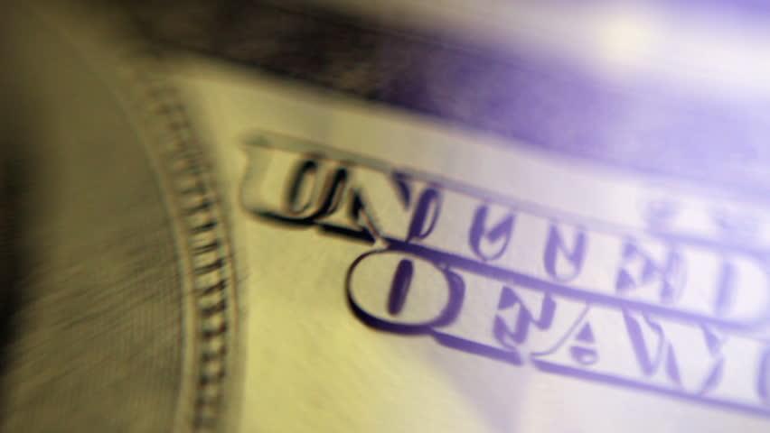 100 dollar bill. Macro. | Shutterstock HD Video #13682498