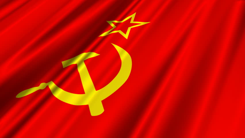 soviet union flag 2 stock footage video 100 royaltyfree