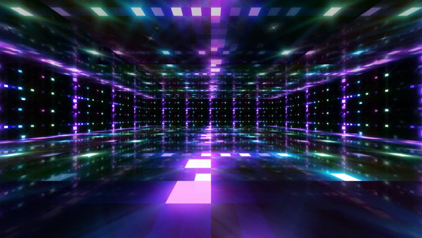 Disco Dance Floor Background Loop Stock Footage Video
