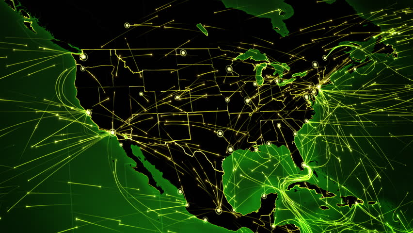 Earth Connections United States Aerial Maritime Ground Routes - 4k us map