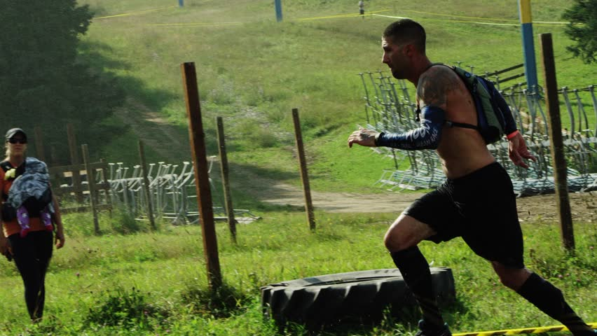 Ottawa, Canada - August 2015 - Athletes of all skill levels compete in one of the biggest obstacle course military style adventure races in the country.