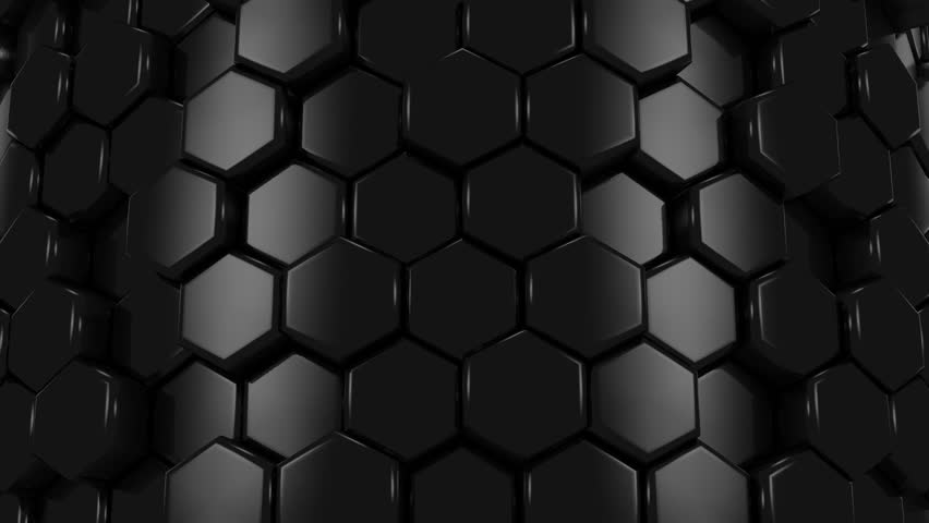 abstract background of black honeycombs stock footage