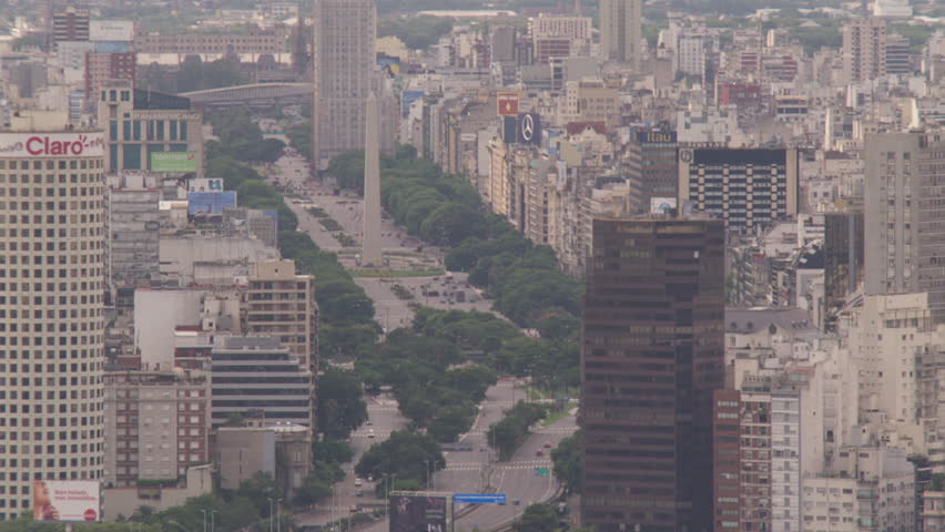Obelisco, 9 de Julio, central Buenos Aires, - Buenos Aires, Argentina, January, 2015 | Shutterstock HD Video #13870235